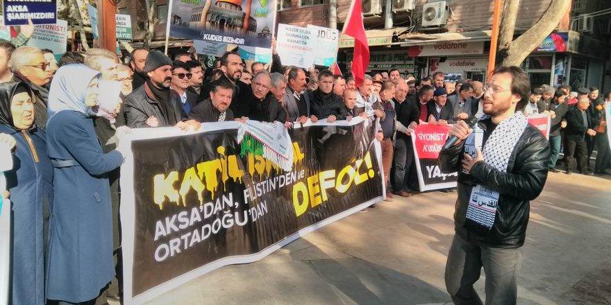 Kahramanmaraş Kudüs Cuması'nda ABD'yi Telin Etti!