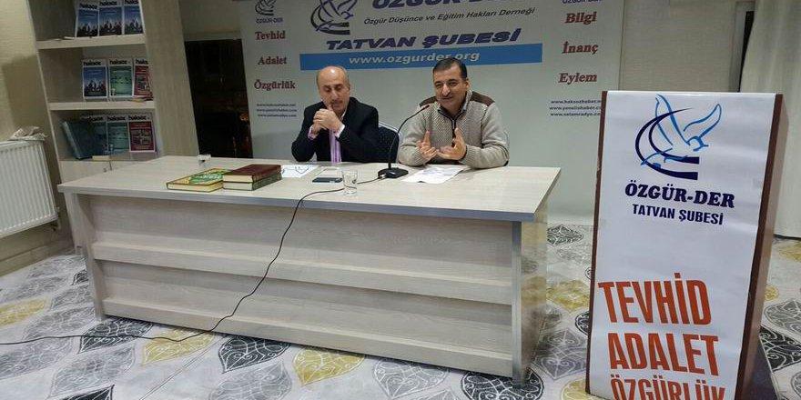 """Tatvan Özgür-Der'de """"İslami Hareketin Serencamı"""" Konuşuldu"""