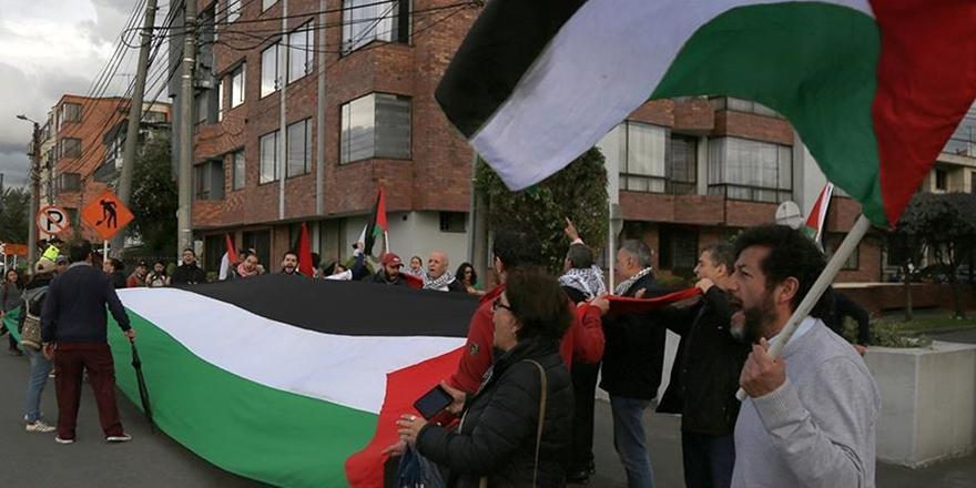 Trump'ın Kudüs Kararına Kolombiya'da Protesto!