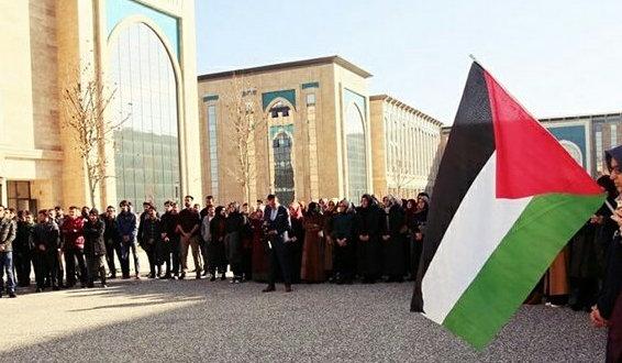 Ankara'da Öğrenciler Kudüs'ü Selamladı