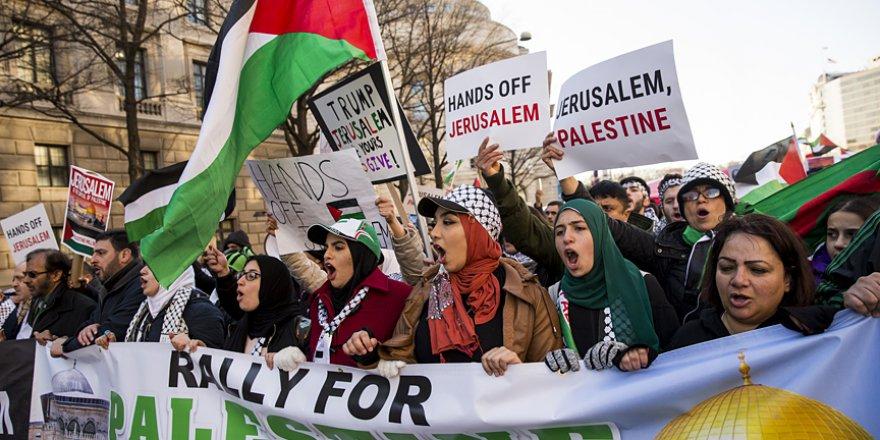 Washington'da Kudüs Protestosu Düzenlendi