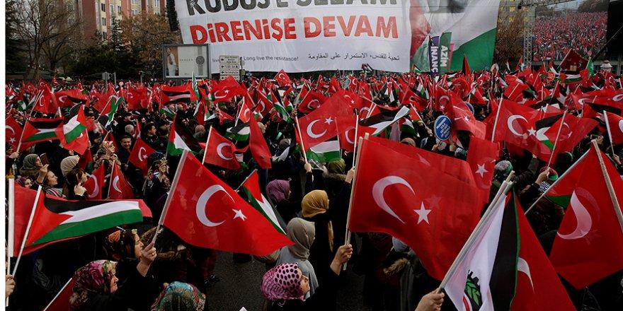 Ankara'da Kudüs Mitingi Düzenlendi