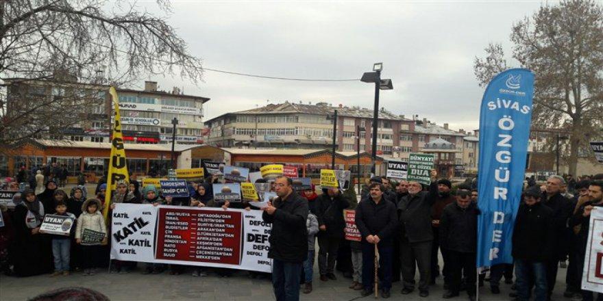 ABD'nin Kudüs Provokasyonu Sivas'ta Protesto Edildi