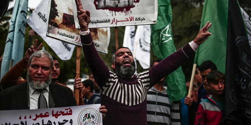 ABD'nin Kudüs Vetosuna Gazze'de Protesto!