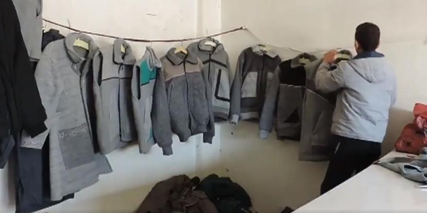 BM'nin Dağıttığı Battaniyelerden Kıyafet Yapılıyor!