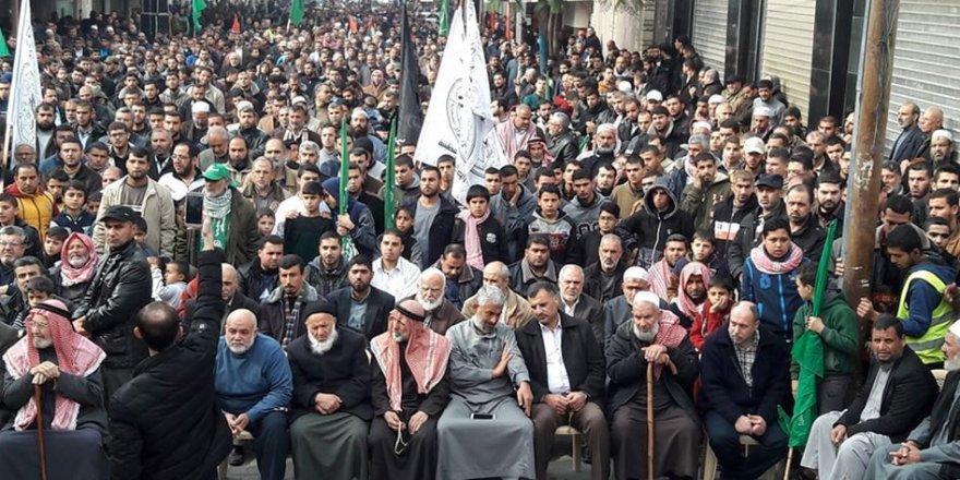 Hamas'tan Han Yunus'ta Kudüs'e Destek Gösterisi