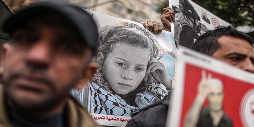 Gazze'de Filistinli Tutuklulara Destek Gösterisi