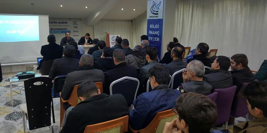 """Tatvan Özgür-Der'de """"Kudüs ve Müslümanlar"""" Konuşuldu"""