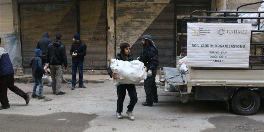 Rahmet İnsani Yardım Derneği Doğu Guta'ya Kış Yardımında Bulundu