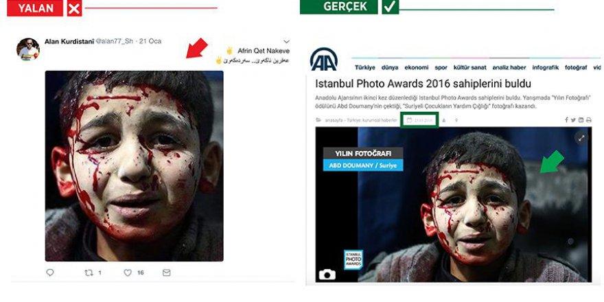 PYD/PKK'nın Çarpıttığı Fotoğraf AA'ya Ait Çıktı!