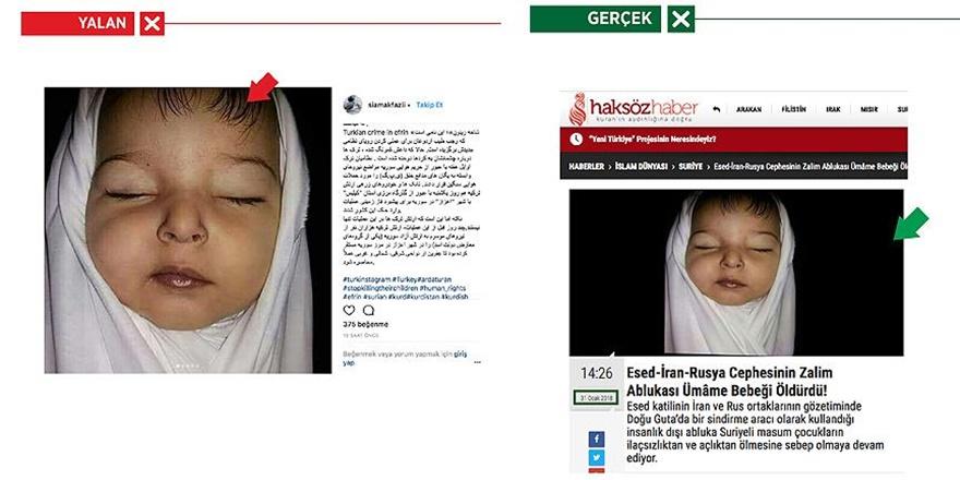 PYD/PKK Yandaşları Doğu Gutalı Bebeği Afrinli Yaptı!