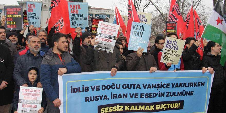 İdlib ve Guta Katliamları Lanetlendi!