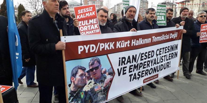 İdlib ve Doğu Guta Katliamları Sivas'ta Telin Edildi