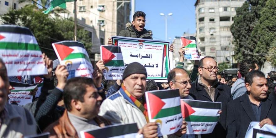 ABD'nin Kararları Gazze'de Protesto Edildi!