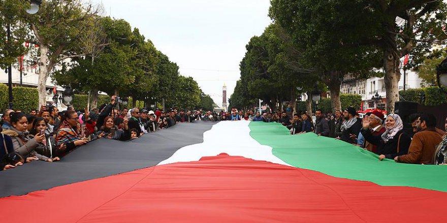 Tunus'ta İsrail'le Normalleşme Karşıtı Gösteri