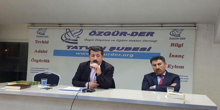 """Tatvan Özgür-Der'de """"Kafkasya ve Orta Asya Müslümanları"""" Konuşuldu"""