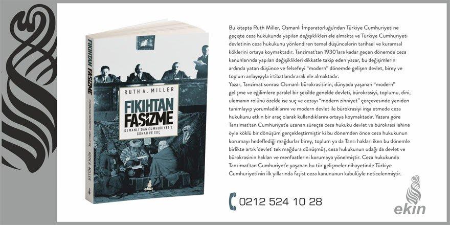 Ekin Yayınları'ndan Yeni Kitap: 'Fıkıhtan Faşizme'