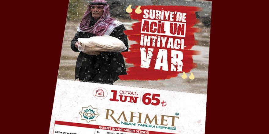 Rahmet-Der'den Suriyeli Kardeşlerimiz İçin Un Kampanyası