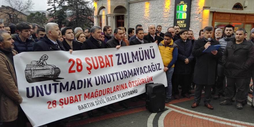 Bartın'da ''28 Şubat Darbesini Tel'in ve 28 Şubat Mahkûmlarına Özgürlük'' Eylemi