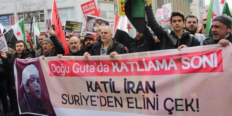 Guta Katliamı İran Konsolosluğu Önünde Lanetlendi!