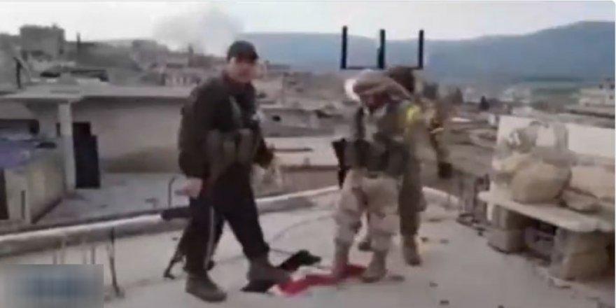 Afrin'de Esed Rejiminin Bayrağı İndi, Ses Odatv'den Geldi