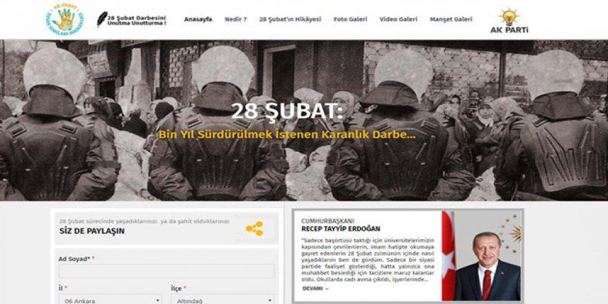 AK Parti'den '28 Şubat' İnternet Sitesi