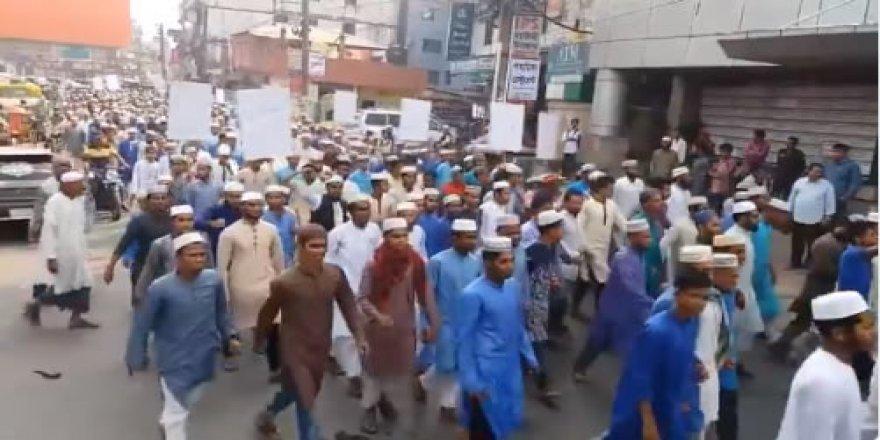 Bangladeş ve Hindistan'daki Müslümanlardan Doğu Guta ile Dayanışma Eylemleri