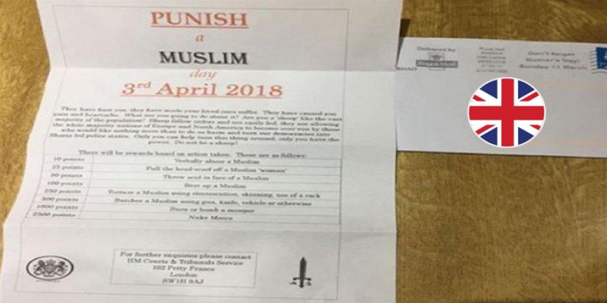 """İngiltere'de """"Bir Müslüman'ı Cezalandır"""" Provokasyonu"""