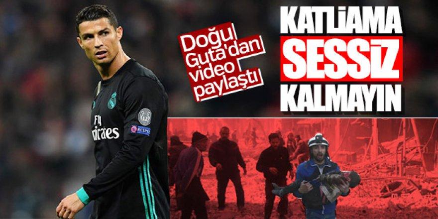 Cristiano Ronaldo, Doğu Guta'daki Katliama Sessiz Kalmadı