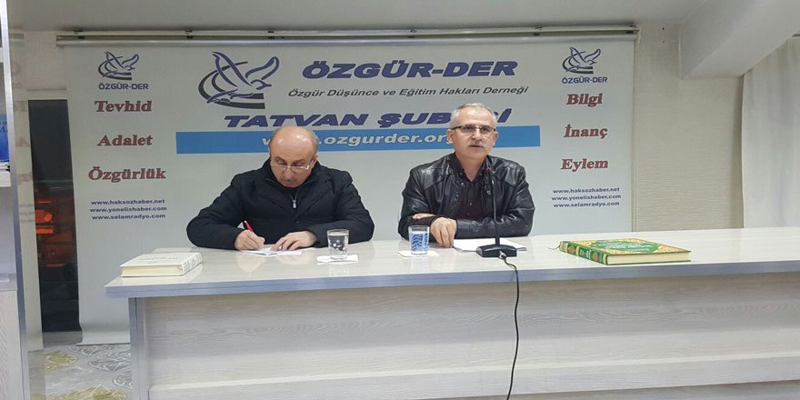 "Tatvan Özgür-Der'de ""Senusi Hareketi"" Konuşuldu"