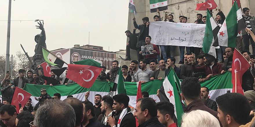 Ankara'da Doğu Guta Eylemi
