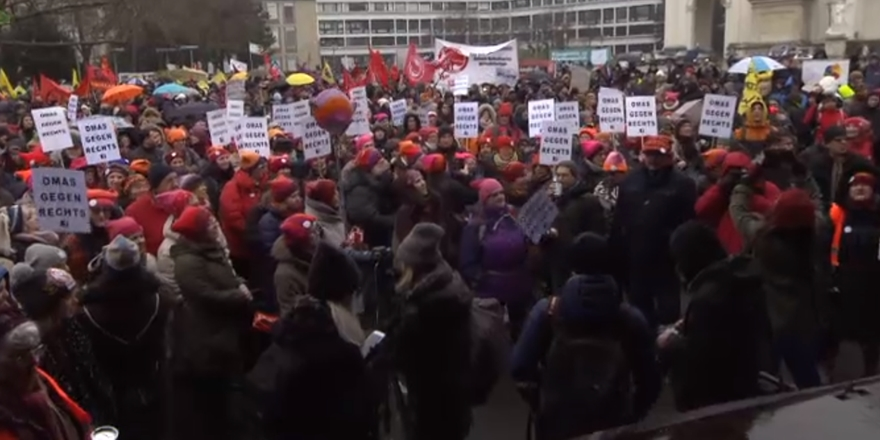 Avusturya'nın Başkenti Viyana'da Irkçılık Karşıtı Gösteri