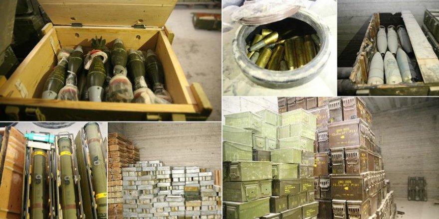 YPG/PKK'nın 12 Odalı Yer Altı Mühimmat Deposu Bulundu