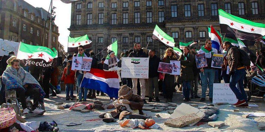 Amsterdam'da 'Guta'yı Kurtar' Gösterisi