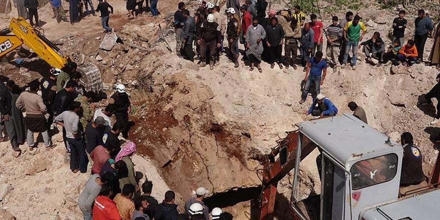 İdlib'e Hava Saldırısı: 16'sı Öğrenci 20 Sivil Hayatını Kaybetti!