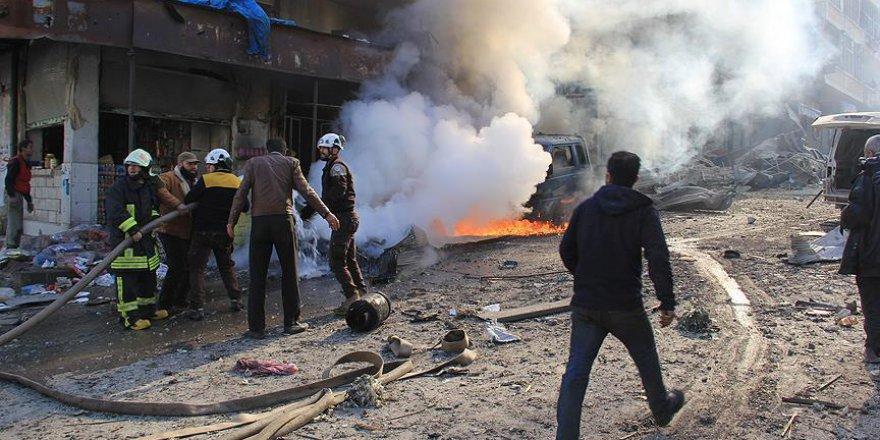 Rusya İdlib'de Pazar Yerindeki Sivilleri Katletti