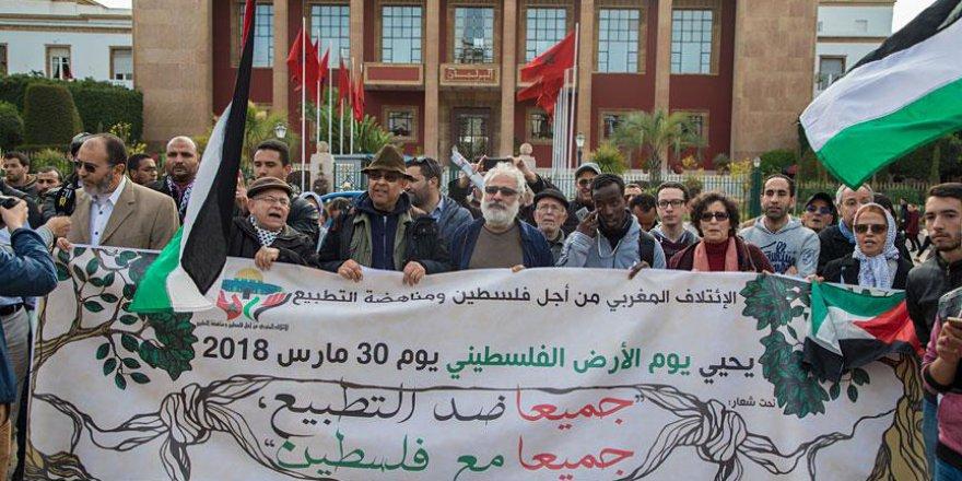 Fas'ta Filistin ile Dayanışma Gösterisi Düzenlendi
