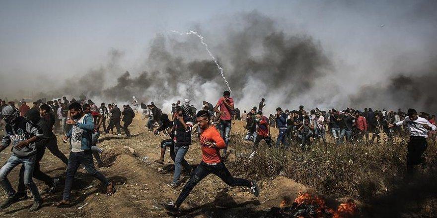 Gazze'de 'Büyük Dönüş Yürüyüşü'nde Beşinci Cuma