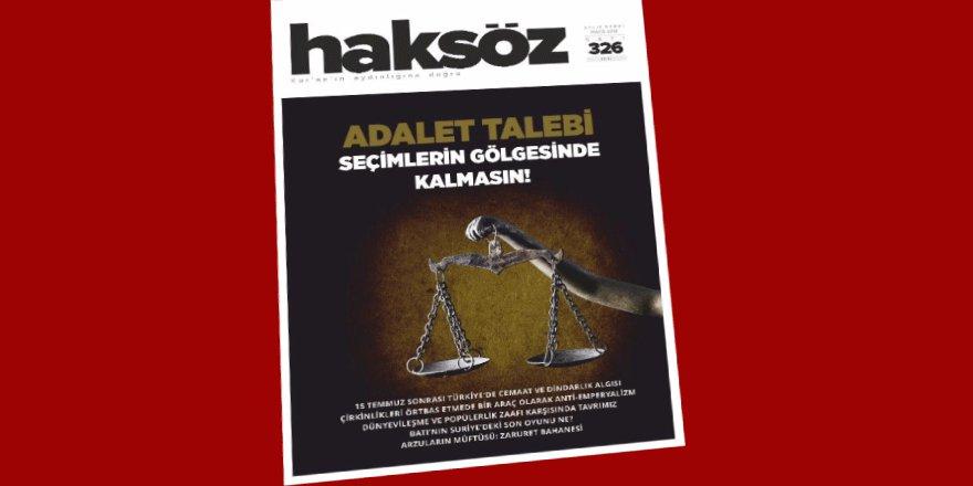 Haksöz Dergisinin Mayıs 2018 Sayısı Çıktı!