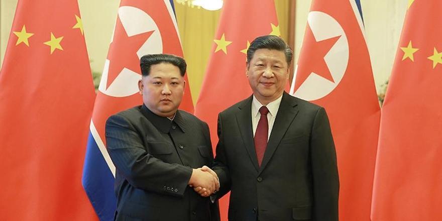 Çin Devlet Başkanı Şi ile Kuzey Kore Lideri Kim Görüştü