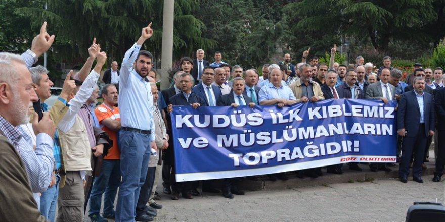İsrail ve Fransa Amasya'da Protesto Edildi