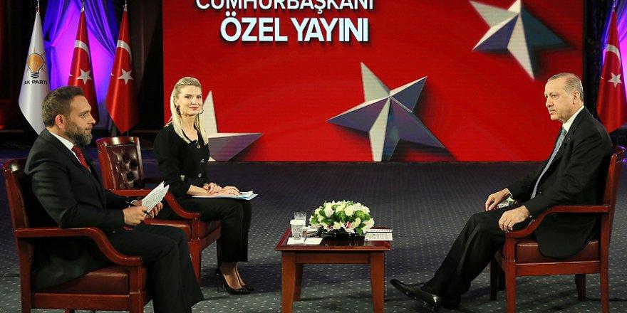 Cumhurbaşkanı Erdoğan Canlı Yayında Gündemi Değerlendirdi