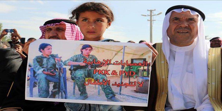 Haseke'de YPG/PKK'nın Gençleri Zorla Silah Altına Almasına Tepki