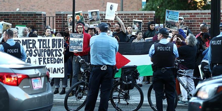İşgalci İsrail'in Gazze'deki Saldırılarına ABD'de Protesto!