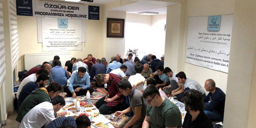 Çorum Özgür-Der'de Ramazan Ayı Etkinleri