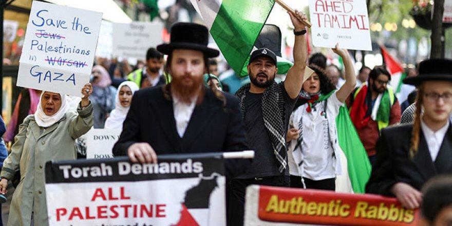 İsrail'in Katliamları Chicago'da Protesto Edildi
