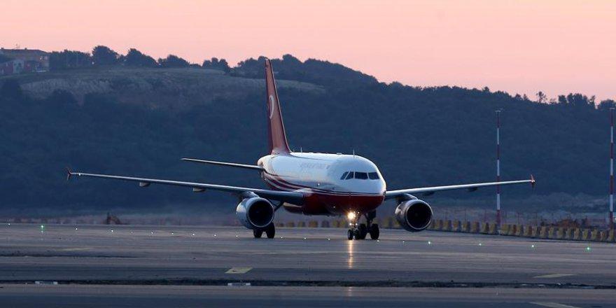 İstanbul Yeni Havalimanı'na İlk Uçuşu Erdoğan'ın Uçağı Yaptı