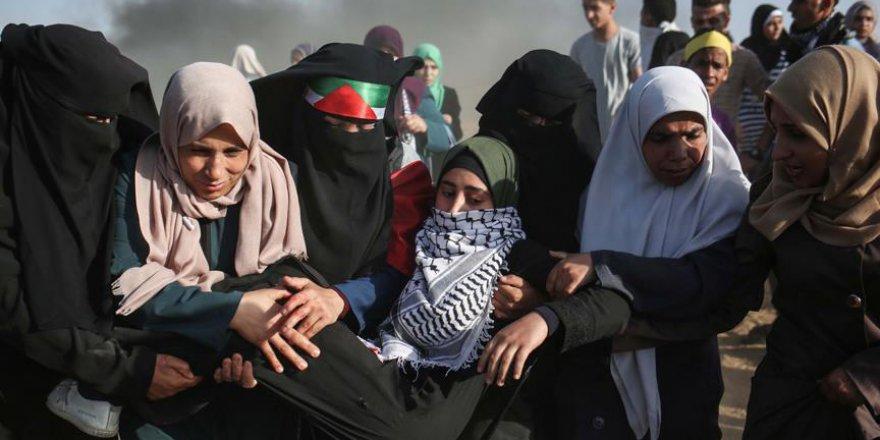 Siyonist İsrail Gazze Sınırında 206 Filistinliyi Yaraladı