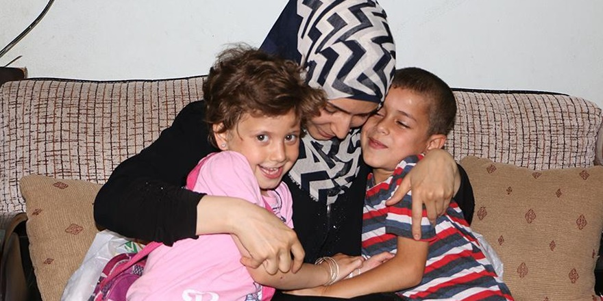 Suriyeli Anne ve Çocuklar Birbirlerine Kavuştu