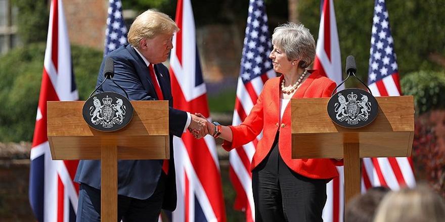 """Trump'tan May'e """"AB'yi Dava Et"""" Tavsiyesi"""